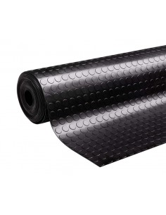 Rubber mat, coin grip, 10m x 1m roll, 3mm