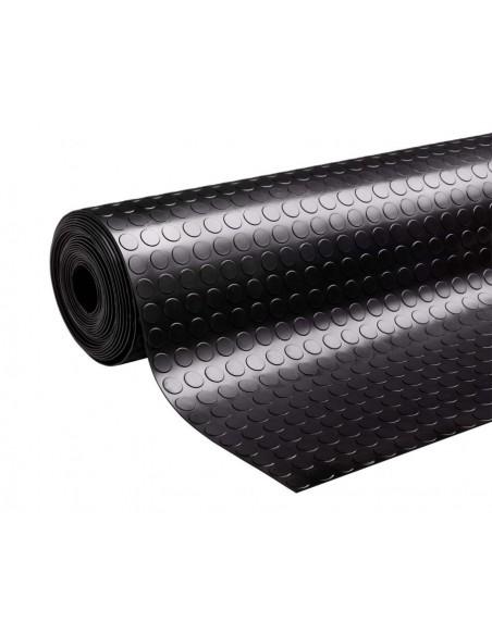 Rubber mat, coin grip, 10m x 1m roll, 3mm