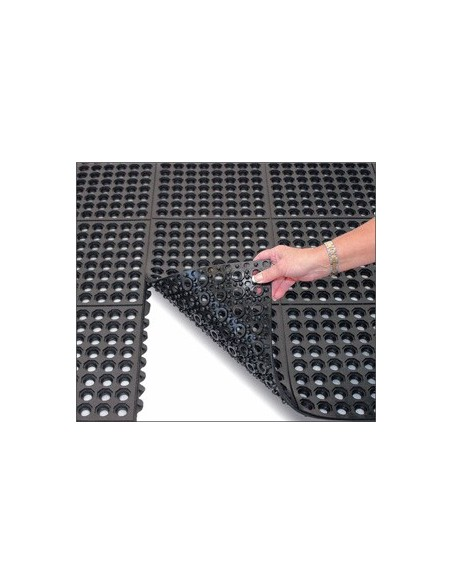 Rubber mat, interlocking, drainage, anti slip, anti fatigue