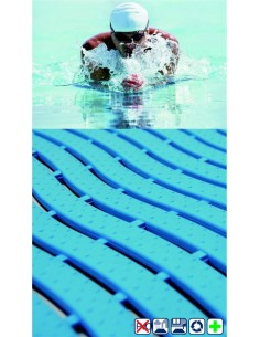Rubber mat, anti-slip, anti-microbial, swimming pool