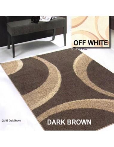 Shaggy rug, circular design