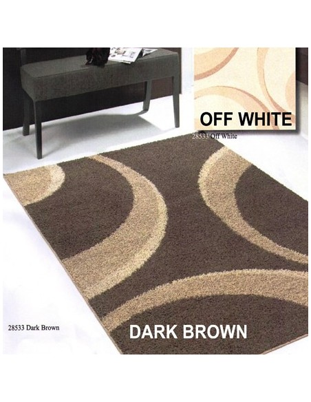 Luxury shaggy rug, 230cm x 160cm, Circle Pattern
