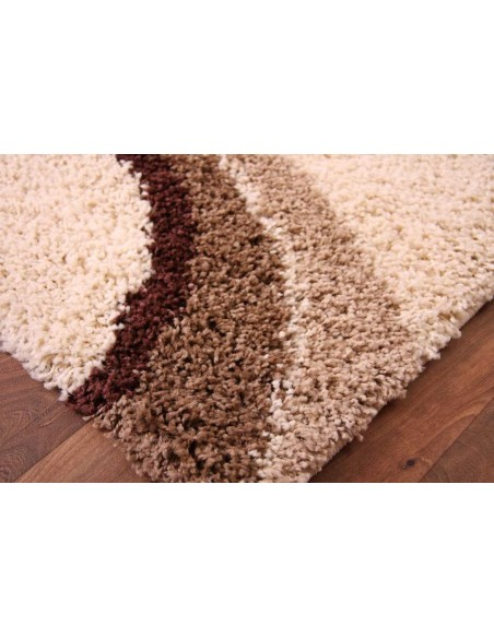 Luxury shaggy rug, 230cm x 160cm, Square Pattern