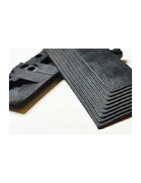 Interlocking rubber edging strip
