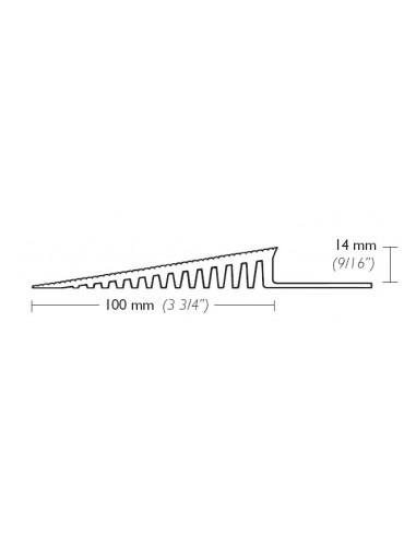 100mm wide PVC edging profile - Herongripa