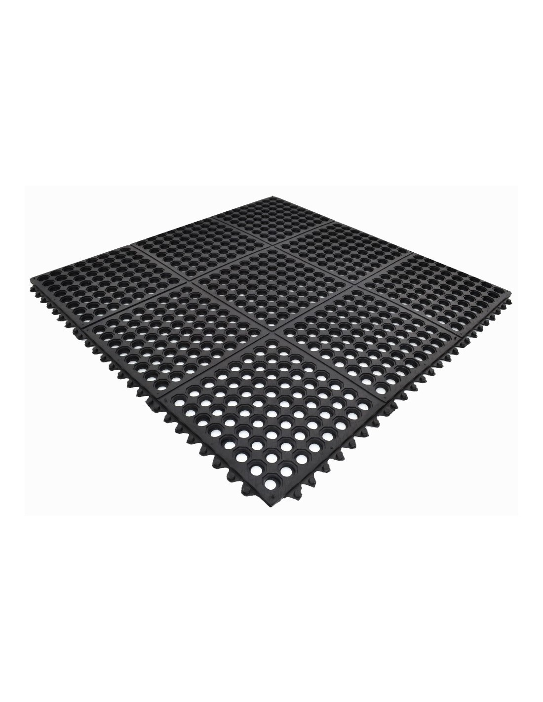 Interlocking rubber mats
