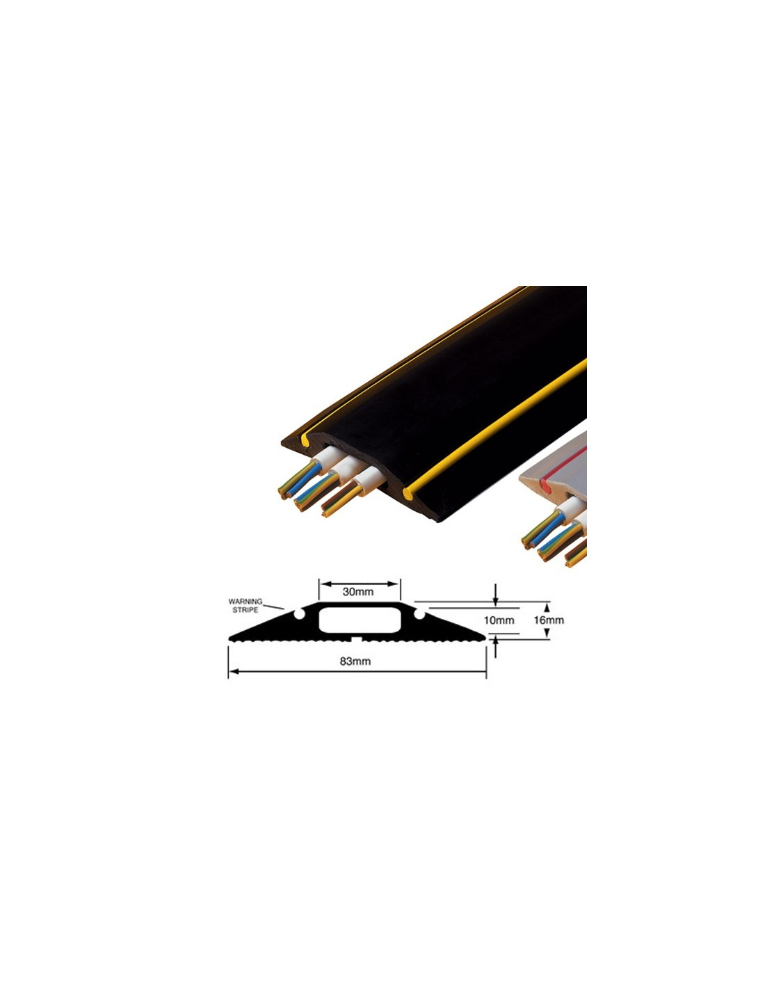 hazard warning cable tidy protector high vis cable cover. Black Bedroom Furniture Sets. Home Design Ideas