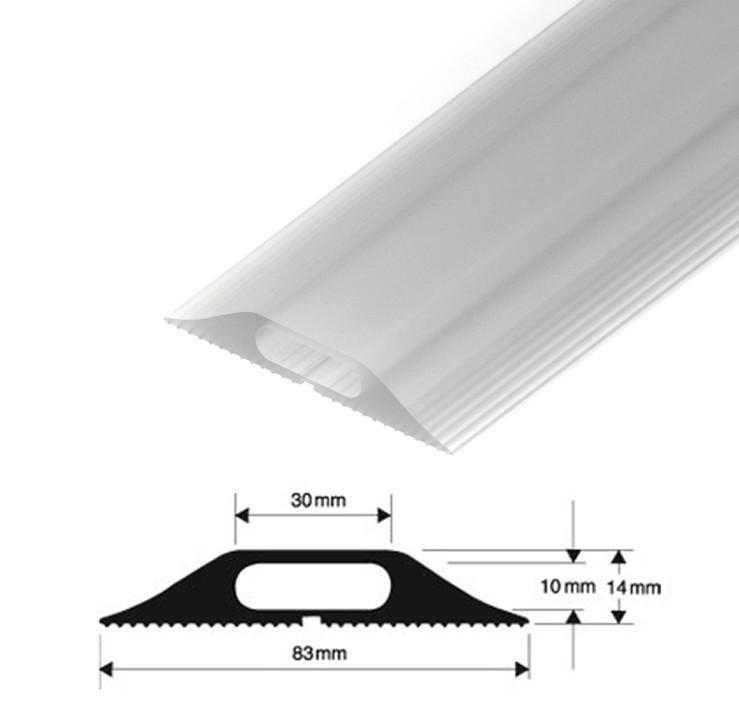 Clear Floor Cable Cover | Clear Cable Tidy Protector | Transparent Cable  Protector | Cable Cover Trunking