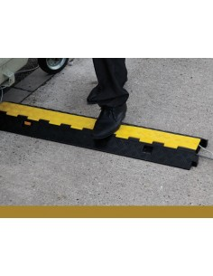 Pedestrian Cable Protector with Hinged Lid, 250mm x 45mm (1m length)