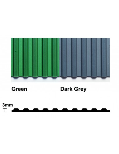 Flexi Ridge Ribbed PVC Matting, 2.8mm thick