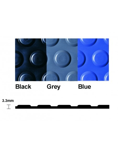 Flexi Button Studded PVC Matting, 3.3mm thick