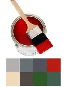Polyurethane floor paint RED