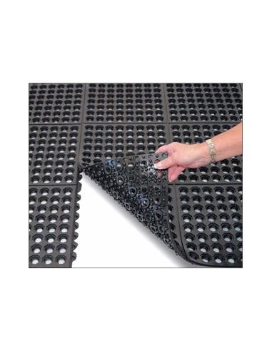 Rubber mat, interlocking, drainage, anti slip, anti fatigue