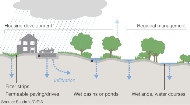 Sustainable urban drainage strategies
