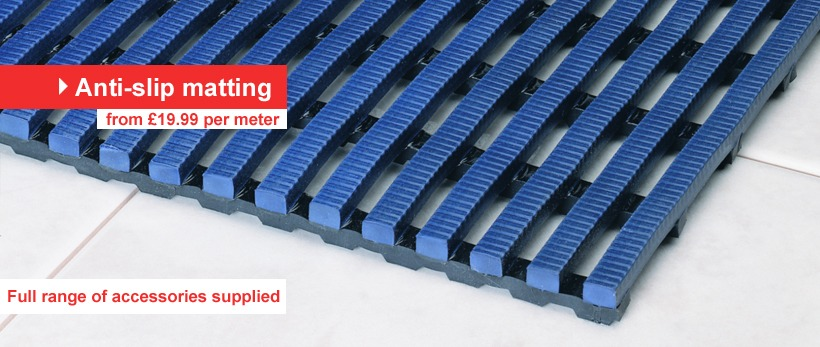 Rubber and Plastic Matting, Flooring, Tiles, Rolls, Grids