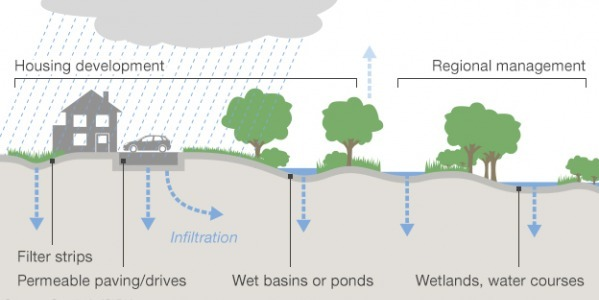 Sustainable Urban Drainage Systems (SUDS) in Flood Prevention